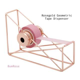 Rosegold Geometric Tape Dispenser