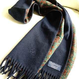 (雙面)50%Cashmere Burberry Vintage Scarf
