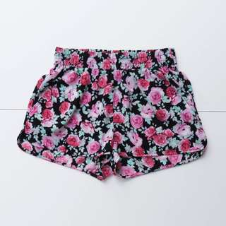 FOREVER 21 SPORTY FLORAL SHORTS QUICK DRY