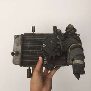 Spark radiator