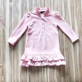 R L 粉色立領洋裝