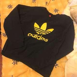 泰國購入 Adidas 黃色log 古著 復古 大學T