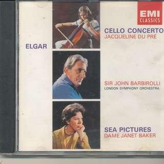 Elgar: Cello Concerto; Sea Pictures / Du Pre - Baker - Barbirolli (AUDIO CD) [a4]
