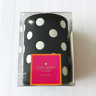 Brand New Authentic Kate Spade Black and White Polkadot Drink Cozy