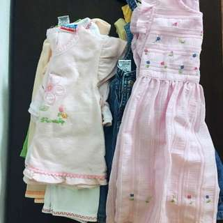 Girls' clothes for 12-18 months