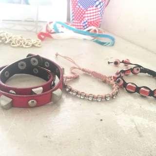 3pc. Assorted Pink Bracelets