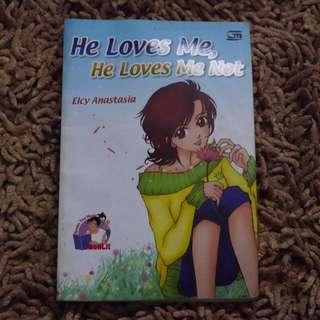 Novel bekas He loves me, He loves me not