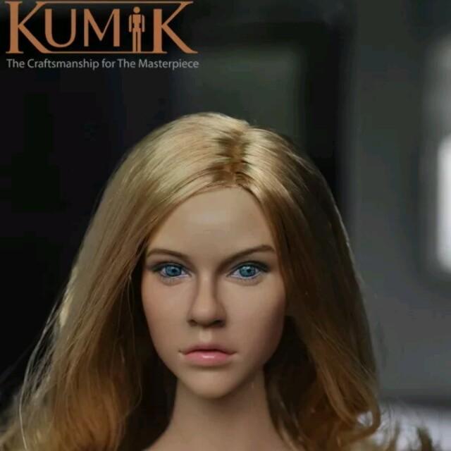"""1//6 SUPERDUCK Female Blonde Hair Head Sculpt For 12/"""" PHICEN TBLeague Figure☆USA☆"""