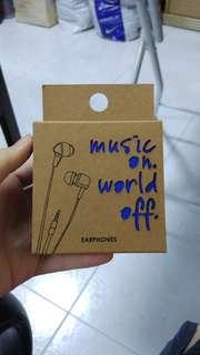 factorie metallic blue earphones