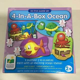 BNIB - 4-in-A-Box Ocean Puzzle Set