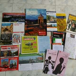 Free & Easy Amsterdam + Luxembourg + Paris + Cologne guidebook & maps selling sgd 8!
