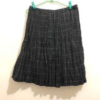 🚚 日系品牌毛料裙L號