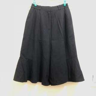🚚 毛料寬褲裙