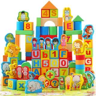 Brand new Wooden building blocks 200 pieces