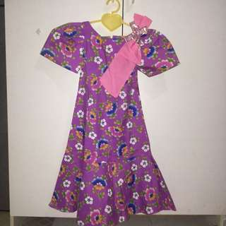 Purple Filipiniana for Kids