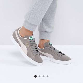 Grey puma suede classic sneakers