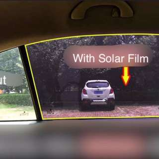 Car Anti-UV light / Electric Static Sun Shield Film ( Removable)