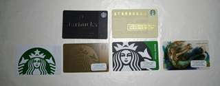 Starbucks Cards Siren and others