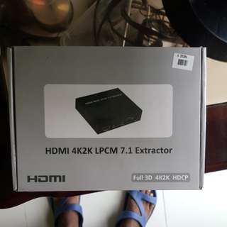 HDMI 4K2K LPCM 7.1 Audio Extractor