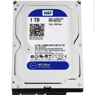 WD Blue Desktop, 1TB Hard Drive