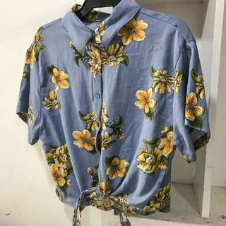 Tie Floral Polo (new)