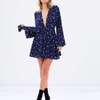 Navy and star dress