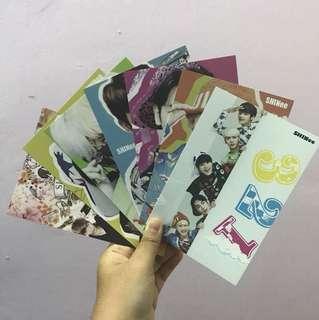 SHINee Postcard + Sticker Set