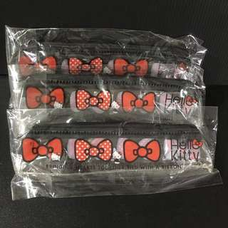 Sanrio Original 2011 Hello Kitty 3 PCS School Girl kid Gift Zip Eyebrow Lip Pencil Case Bag