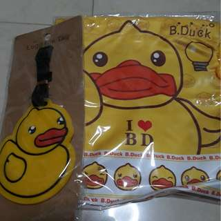 Duck luggage tag and bag