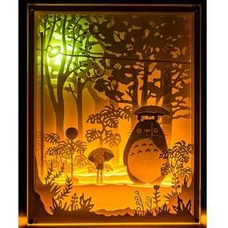 My Neighbor Totoro Handmade Paper Craft 3D Night Light Shadow Box Artwork Frame Decoration Craft DIY Kit