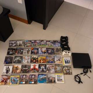 Various game, 5 controllers and 1 ps3 slim