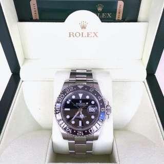 ROLEX GMT Master Black Index Dial Oyster Bracelet Steel Men's 2013 | complete set - No Rec | FAST SALE,GOOD DEAL-1r15