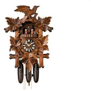 *Brand New Original* STERNREITER Quartz Black Forest Bird & Leaf Musical Cuckoo Clock