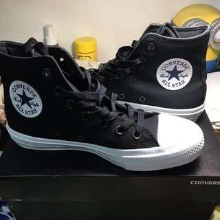 全新 2代高筒黑色All star converse 150143c chuck taylor 23.5cm