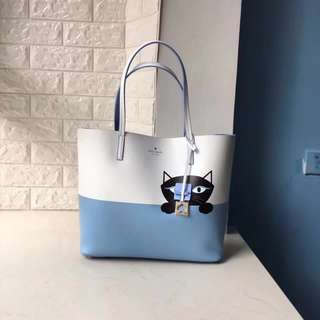 Kate Spade 'Little Len Peeking Cat' Tote