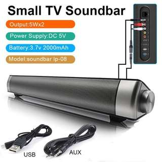 Soundbar 2.1 Channel USB Bluetooth Wireless Sound Bar Speaker Subwoofer