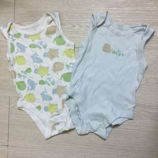 Mothercare 2 pc set sleeveless bodysuit