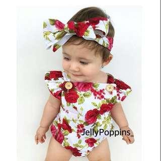 Bahu bayi bunga romper