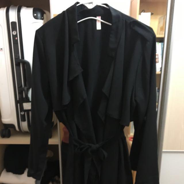 質感雪紡風衣造型綁帶外套
