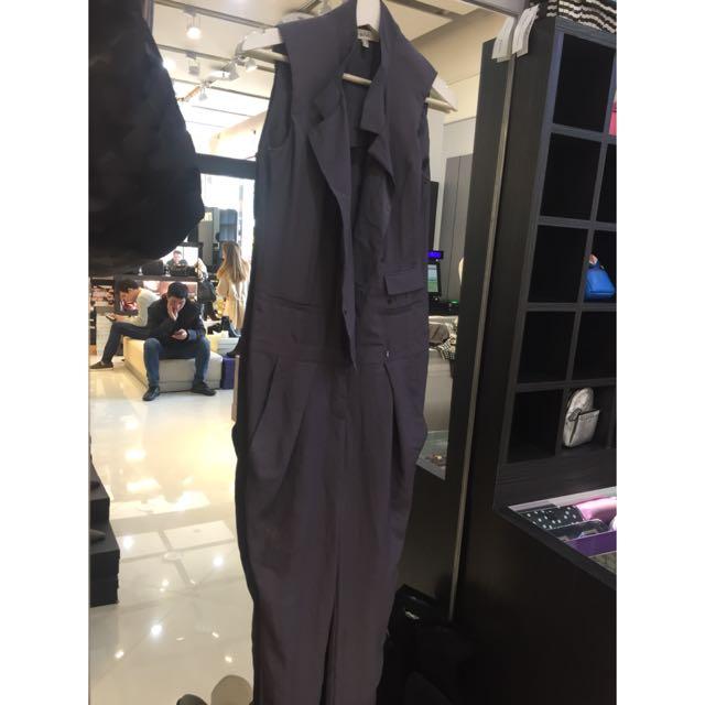 西裝版型帥氣連身褲