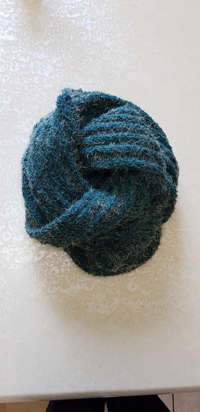 綠色長圍巾