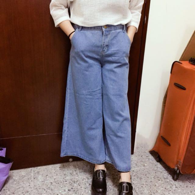 寬褲牛仔褲僅穿一次