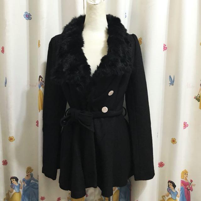 韓國購買 毛毛學院風風衣
