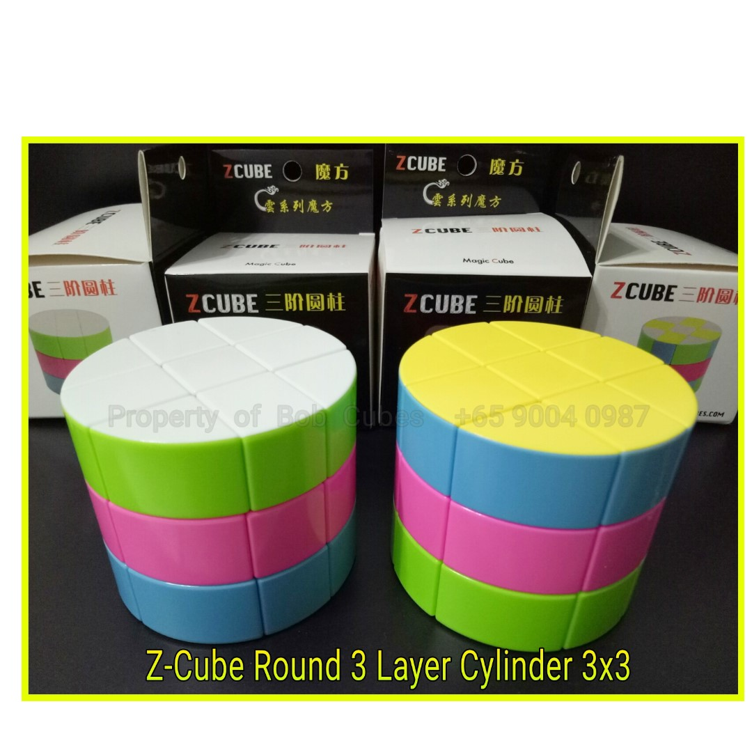 - Z-Cube Round 3 Layer Cylinder Barrel Z Cube 3x3 for sale -  Brand New !