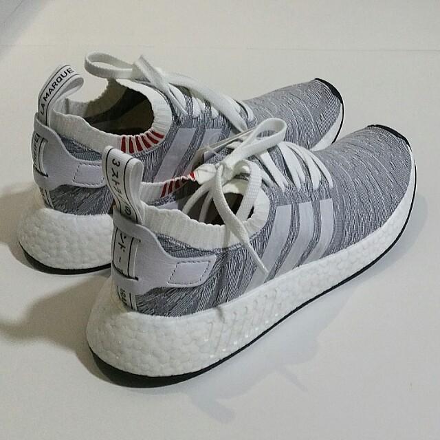 adidas nmd r2 primeknit pk glitch tigre mimetico grigio grigio, uomini