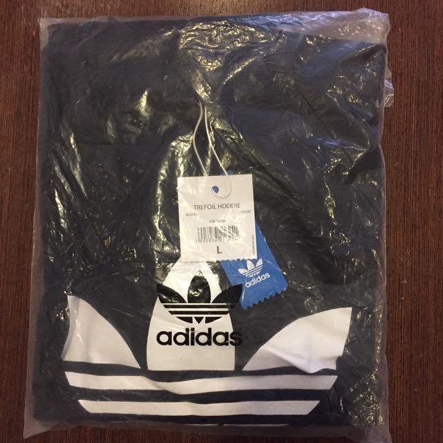Adidas Trefoil Hoodie (Black & White) L size