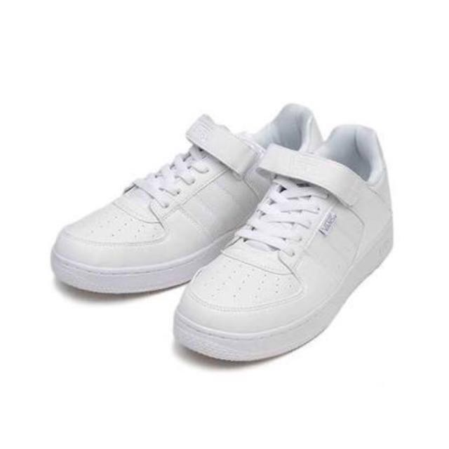Auth Vans White Rubber Leather Inspire Sneakers