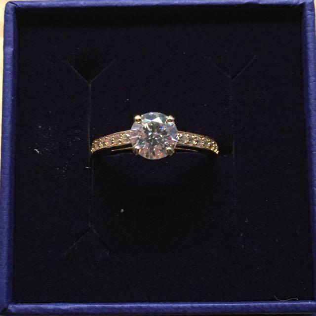 89e559b3e799e Authentic BNIB Swarovski Rose Gold Plated Attract Round Ring ...
