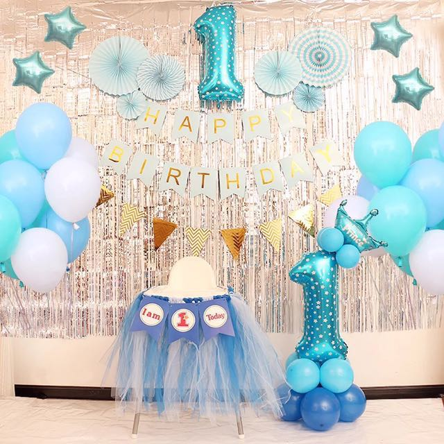 Balloon Set Birthday Balls Balloons 1 Year Old Design Craft