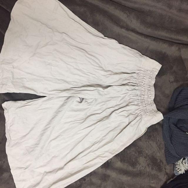 日本品牌Beams 淺卡其長褲裙 0號